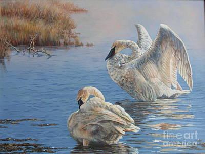 Sandra Williams Painting - Madison River Trumpeters by Sandra Williams