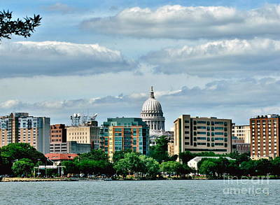 Photograph - Madison Skyline by Marilyn Smith