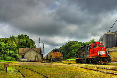 Photograph - Madison Station And Workhorse Trains by Reid Callaway