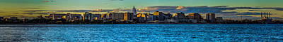 Madison Twilight Panorama Art Print