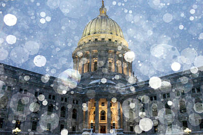 Senate Photograph - Madisonian Winter by Todd Klassy