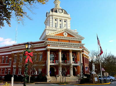 Photograph - Madison's Morgan County Courthouse by Denise Mazzocco
