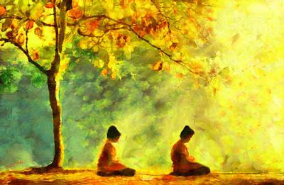 Flora Painting - Meditation by George Rossidis