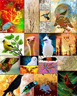 Fantasy Digital Art - Madness With Birds 2 by Florentina Maria Popescu