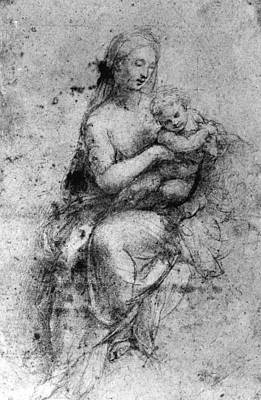 Drawing - Madonna & Child by Granger