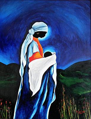 Haitian Painting - Madonna And Child - Beloved Son, 2008 by Patricia Brintle