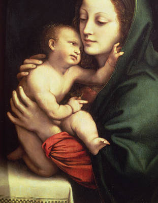 Embrace Painting - Madonna And Child by Bernardino Luini