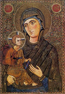 Madonna And Child, Byzantine Mosaic Art Print
