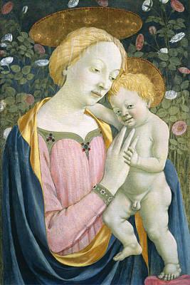 Jesus Art Painting - Madonna And Child by Domenico Veneziano