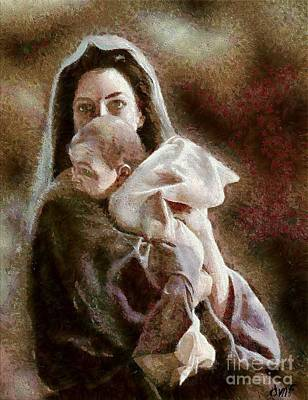 Mother Mary Digital Art - Madonna And Child by Dragica  Micki Fortuna