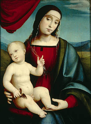 Religious Artist Painting - Madonna And Child by Francesco Francia