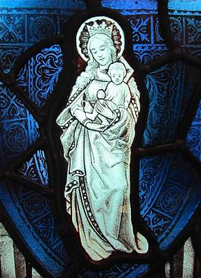 Glass Art - Madonna And Child by Gilroy Stained Glass