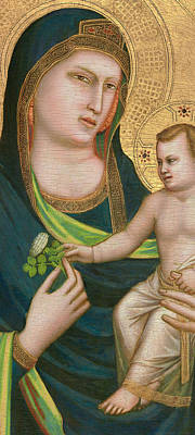 Bondone Painting - Madonna And Child by Giotto di Bondone