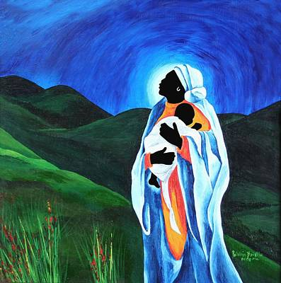 Caring Painting - Madonna And Child  Hope For The World by Patricia Brintle