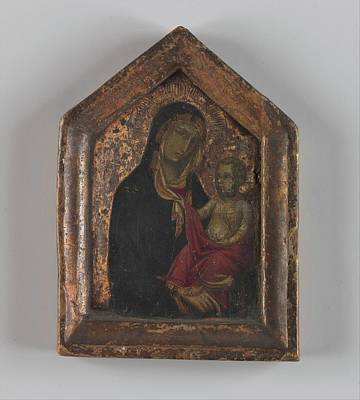 14th Century Painting - Madonna And Child by Italian [Tuscan] Painter, first quarter of 14th century
