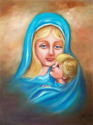 Christmas Painting - Madonna And Child by Joni McPherson
