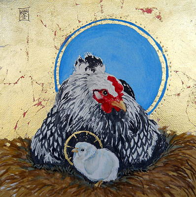 Hens And Chicks Painting - Madonna And Child by Kirsten Beitler