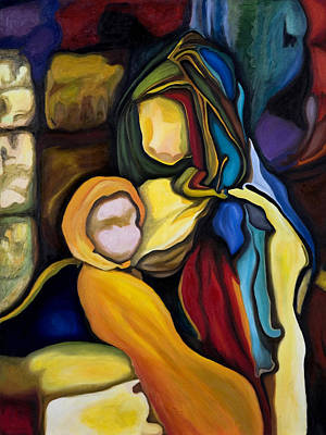 Madonna And Child Art Print by Maria Pureza Escano