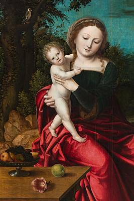Mary And Jesus Painting - Madonna And Child by Master of the Parrot