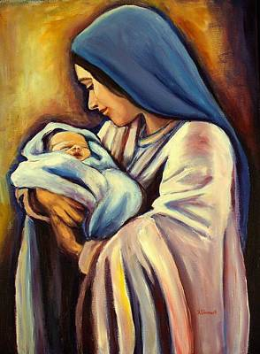 Child Jesus Painting - Madonna And Child by Sheila Diemert