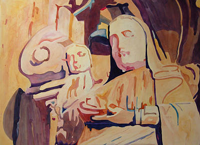 Painting - Madonna And Child by Terry Holliday