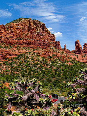 Madonna And Child Two Nuns Rock Formations Sedona Arizona Art Print by Amy Cicconi