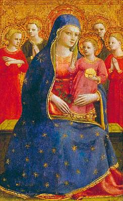 Lapis Painting - Madonna And Child With Angels by Fra Angelico