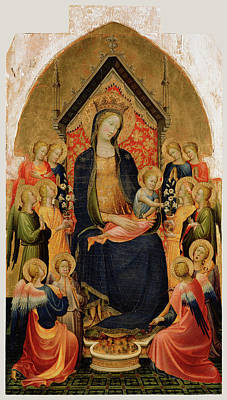 Madonna And Child With Musical Angels Gherardo Starnina Art Print by Litz Collection