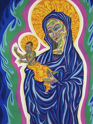 Painting - Madonna And Christ Child by Robert SORENSEN