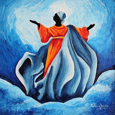 Haitian Painting - Madonna Assumption  Sanctissima by Patricia Brintle
