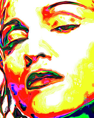 Celebrity Painting - Madonna by  Fli Art