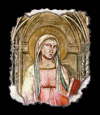 Ancient Painting - Madonna Del Parto by Steve Bogdanoff