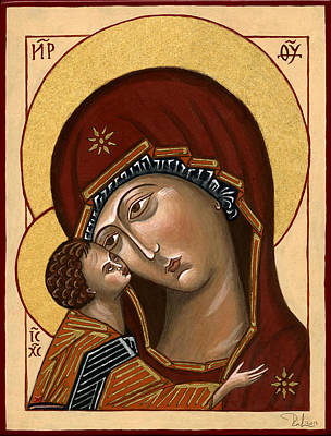 Painting - Madonna Della Tenerezza - Our Lady Of Tenderness by Raffaella Lunelli