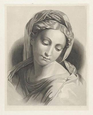 Dirk Drawing - Madonna. Dirk Jurriaan Sluyter, 1826 - 1886 by Dirk Jurriaan Sluyter