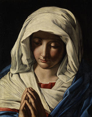 Madonna In Prayer Art Print by Giovanni Battista Salvi da Sassoferrato