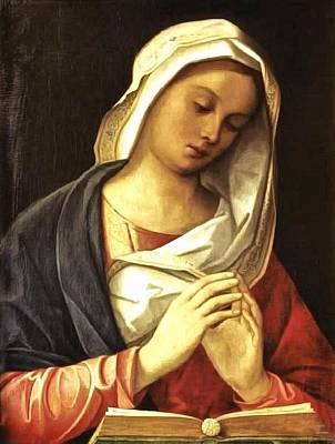 Religious Art Painting - Madonna In Prayer by Unknown