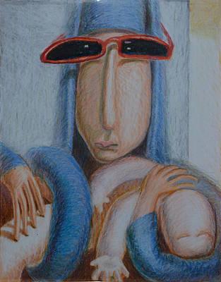 Madonna In Sunglasses Art Print by Nancy Mauerman