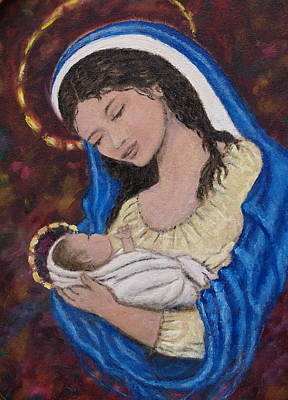 Reason Painting - Madonna Of The Burgundy Tapestry - Cropped by Kathleen McDermott