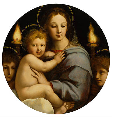 Madonna Of The Candelabra Art Print by Raphael