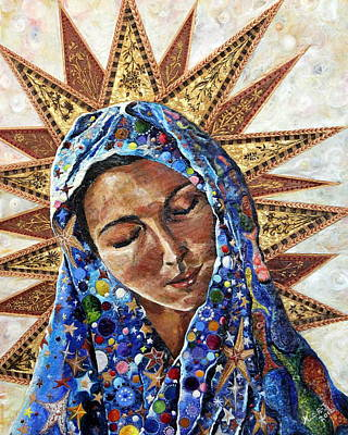Religious Art Painting - Madonna Of The Dispossessed by Mary C Farrenkopf