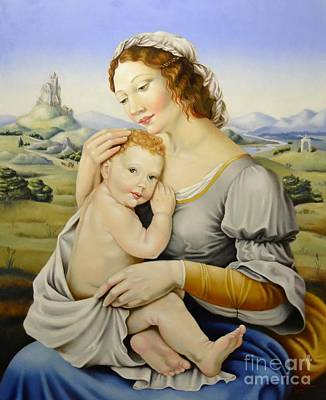 Painting - Madonna Of The Fields by Nathalie Chavieve