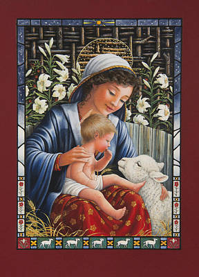 Child Jesus Painting - Madonna Of The Lilies by Lynn Bywaters