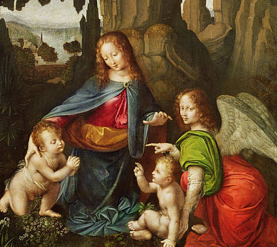 Blessings Painting - Madonna Of The Rocks by Leonardo da Vinci