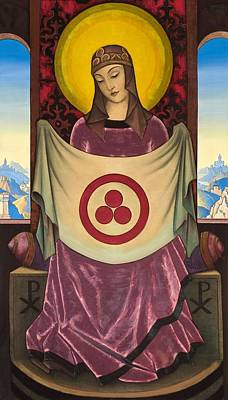 Russia Painting - Madonna Oriflamma by Nicholas Roerich