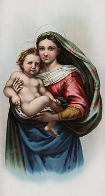 Religious Images Digital Art - Madonna by Raphael