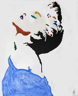 Madonna Painting - Madonna True Blue by Stormm Bradshaw