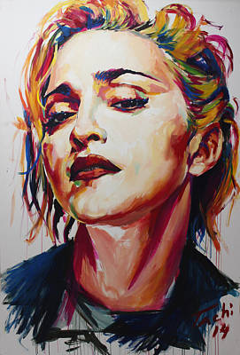 Character Portraits Painting - Madonna by Tachi Pintor