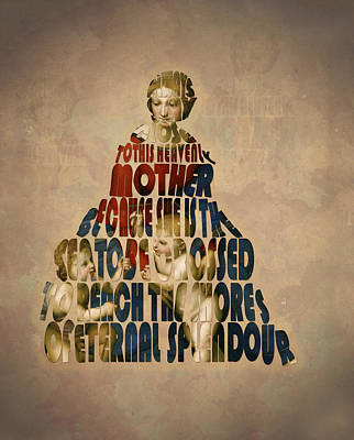 Madonna Typography Artwork Art Print by Georgeta Blanaru