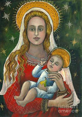Madonna With Baby Jesus Art Print by Vera Zales