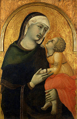 Black Madonna Painting - Madonna With Child by Pietro Lorenzetti